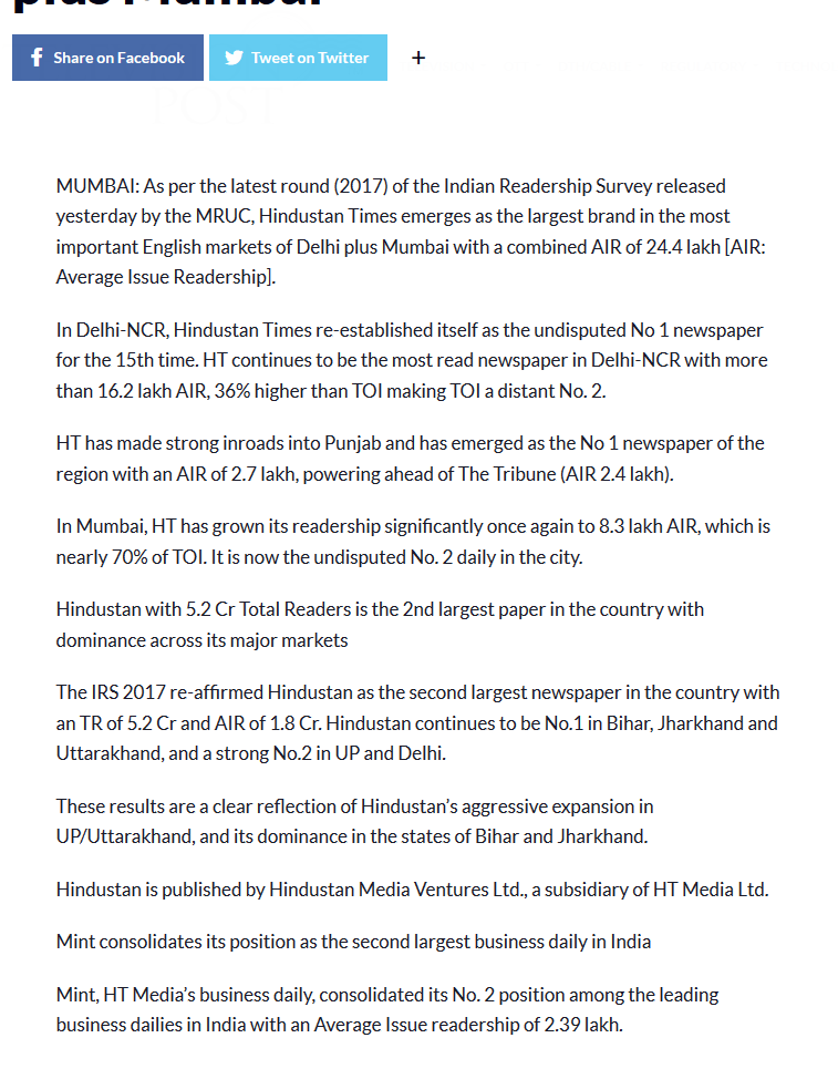 national readership survey pdf